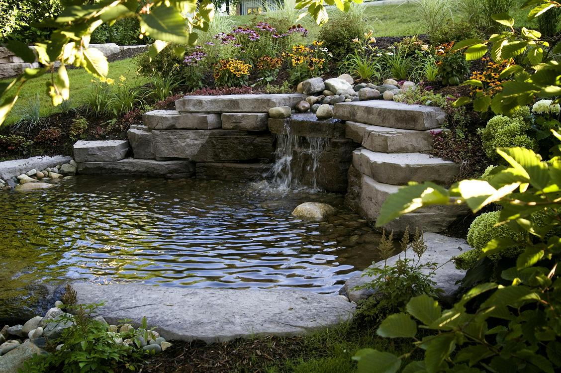 Stonescaping water features stone ponds northern nurseries for Ponds and water features